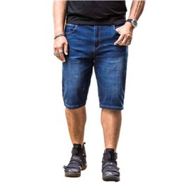 Wholesale Denim Fat Pants - YIXINDA Brand In summer, the new men add fat and casual denim shorts and baggy pants jeans
