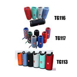 Wholesale bluetooth loud speaker - TG113 TG116 TG117 Loudspeaker Bluetooth Wireless Speakers Subwoofers Handsfree Mini Call Profile Stereo Support TF USB Card In Hi-Fi Loud