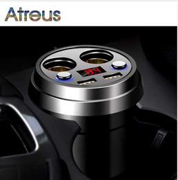Chargeur de voiture audi en Ligne-Atreus 3.1A Chargeur de voiture multifonction Allume-cigare Pour Audi A4 B6 VW Passat B5 B7 Skoda Octavia A7 A5 Renault Megane 2 3