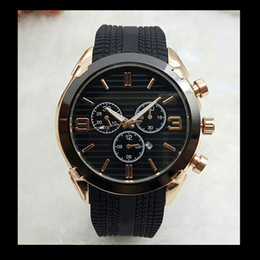 Wholesale Men Digital New Style Watch - relogio masculino 45mm military sport style large men watches 2018 luxury brand fashion designer black dial unique silicone big male clock
