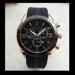Relógio do esporte do silicone dos homens on-line-Relogio masculino 45mm dial estilo militar do esporte grande mens relógios de grife 2019 marca de moda homens de luxo relógio preto relógio de pulso relógio masculino