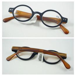 Telai di vetro in plastica neri rotondi online-Lenti da lettura retrò vintage Occhiali da vista rotondi Occhiali da vista da donna Uomo Occhiali da vista in plastica nera full frame + 1.0 ~ + 4.0 Forza