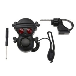 Wholesale horn tones - 120dB Mini Bike Electric Horn Bicycle Bell With Warning Light Multi-tone Handlebar Horn High Quality NNA271