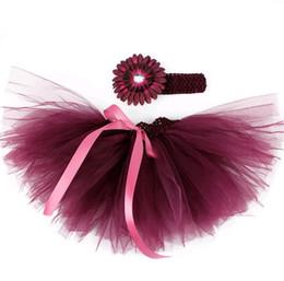 Argentina 30 colores Ropa de niña recién nacida Bow Tutu Vestido infantes accesorios de fotografía accesorios 2pcs diadema de flores + trajes de falda en forma 0-18M supplier newborn dress suits Suministro