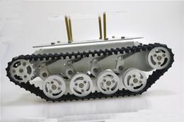 Il telaio del carro armato del robot di Smart Absorper del metallo con il doppio motore a corrente continua esamina le ruote della lega di alluminio per il progetto TS100 di Arduino da