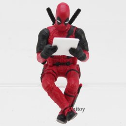 Wholesale Computer Dolls - figures collectibles Deadpool 2 Mini PVC Action Figure Collectible Model Toy Computer Screen Decoration Doll 6cm