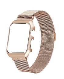 Compatible con Apple Watch Band Milanese Loop, banda magnética de acero inoxidable con estuche metálico para iWatch Series 1/2 protectora a prueba de golpes desde fabricantes