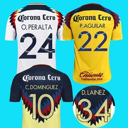 Wholesale Football Clubs - S-2XL 2017 2018 third club america jersey away 17 18 america soccer jerseys DOMINGUEZ Matheus Uribe LAINEZ PERALTA quintero football shirt