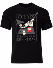 scary hats NZ - Vote Yes For A Scary Christmas Nightmare Before Christmas Mens Tshirt Top AL63 suit hat pink t-shirt
