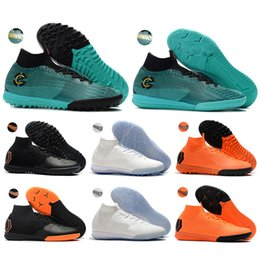 bab9fc032e0 Youth Kids High Ankle Football Boots Mercurial SuperflyX VI Elite CR7 IC TF  Soccer Shoes Men Women Superfly 6 Indoor Soccer Cleats