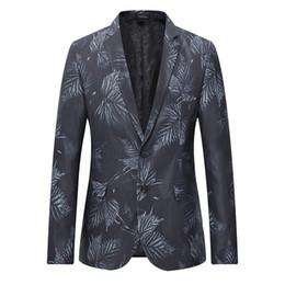 Korea mans lässig schmaler passend online-2018 mode lässig männer blazer plus größe slim fit korea stil anzug blazer masculino männlich blumig anzüge jacke blazer männer mäntel
