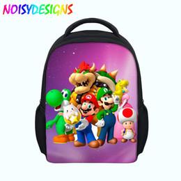 3c734cff281e School Bags for Kids Baby Backpacks 3D Super Mario Cartoon Printing Little  Children Bagpack Mini Schoolbag Satchel Dropshipping
