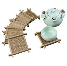 Bambou Thé Tasse Tapis Carré Coaster ensemble Main fait à la main tapis Pour Kungfu Ensemble De Thé Cuisine Accessoires Boissons Thé Outils c503 ? partir de fabricateur
