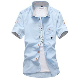 Wholesale Orange Mushrooms - 2017 New Fashion Summer Mushroom Character Shirts Men Brand High Quality Cotton Solid Color Short Sleeve Shirt for Men Size 5XL