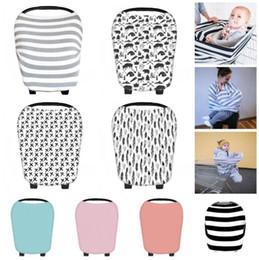Wholesale ponchos shawls - Mom Breastfeeding Cover Nursing Apron Baby Poncho Cotton Shawl Car Seat Canopy Baby Nursing Cover KKA4551