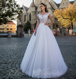 Wholesale Tailor Made Lace Wedding Dress - Sexy Illusion Bodice Ivory Wedding Dresses 2018 Appliques Top Long Tulle Bridal Gowns China Tailored Brides Cloth vestidos para noiva