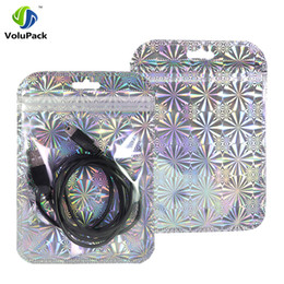 Wholesale Plastic Bag Reclosable - 10x15cm(4x6in) Glittery Silver  Gold Translucent Plastic Retail Package Bag Reclosable Flat Zip Lock Bag With Hang Hole