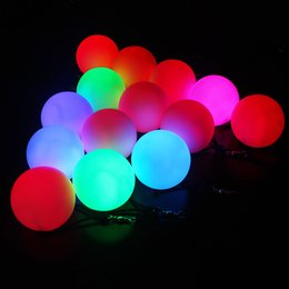 Wholesale belly dance balls - Led Light Up Toys Poi Fitness Ball With Hanging Rope PVC Belly Dance Throw The Balls Novelty Color 8 5ws WW