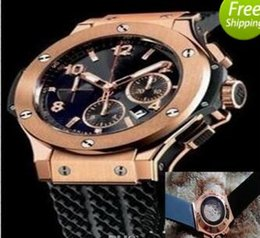 Wholesale Mens Red Gold Watch - Hot A2813 AAA New silver Mens F1 Luxury Brand Automatic movement Watch Big Bang Men Mechanical roles Watches Fashion Sports Wristwatch