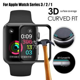 Para Apple Watch 3D Cobertura completa Protector de pantalla de vidrio templado 42 mm 38 mm Antirrayas sin burbujas Para iWatch Series 1/2/3 desde fabricantes