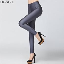 Wholesale Leggins Colors Pants - Hot Sale 2017 Candy Colors Fashion Fluorescent Leggings 20 Solid Color Women Shiny Leggins Plus Size Female Casual Pants Legging
