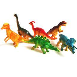 Wholesale plastic animal figures set - 6pcs set Plastic Figures Simulation Model Dinosaur Large Assorted Dinosaurs Toy Novelty Gag Toys For Children A630476