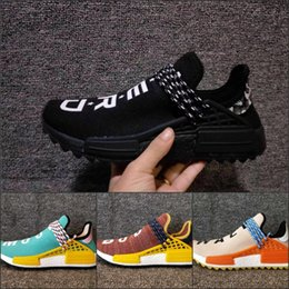 Wholesale Hot Human Body - NMD Human Race Pharrell Williams Hu trail Running Shoes Best Quality New Hot Cheap 13 Color Men's Womens Sports Shoes Size 5-11
