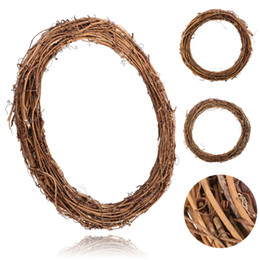 Ghirlande di nozze di natale Decorazione Rattan Wreath Materiale di decorazione per la casa Corona fai da te Partito 10 cm / 15 cm / 20 cm / 25 cm / 30 cm da lettere di erba artificiale fornitori