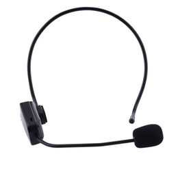 Wholesale wireless tour guide - FM Wireless Microphone Multi-functional Teaching Guided Loudspeakers Teacher Tour Interview Headset Microphone for Computer