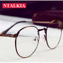 34e8a14dc7c Round Metal Blue Light Eyeglasses frame for women men Anti-radiation anti-fatigue  computer reading Anti blue ray glasses