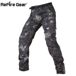 Engranaje de camuflaje online-ReFire Gear Camuflaje Ejército Pantalones Tácticos Desmontables Hombres Verano Pantalones Militares de Secado rápido Longitud de la Rodilla Pantalones Extraíbles Y1892503
