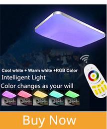 Современные светодиодные потолочные светильники лампа RGB для гостиной спальня 90-260V диммер квадратный скрытое крепление потолка led plafondlamp детская комната от