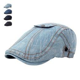 Cappelli estivi di moda per uomo donna Jeans casuali Berretti Gorras Planas  Boinas Denim berretto piatto regolabile cotone berretti maschi cappelli di  jeans ... 2ce3078b3d5b