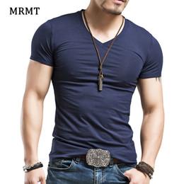 2019 camiseta lycra hombre 2018 hombres de algodón Lycra de manga corta v  cuello camiseta hombres 19170ebe97a94