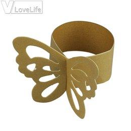 Mode 25pcs / lot Perlescent Papier Papillon Serviette Anneaux Mariages Accueil Partie Serviette Décoration De Table ? partir de fabricateur