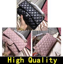 Wholesale canvas leather shoulder bag - Designer Handbags High quality Luxury Handbags Famous Brands handbag Women bags Crossbody bag Lozenge lattice Leather Chain Shoulder Bags