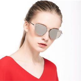 Rosa augenfilm online-PZG Fashion Cat Eye Damen Sonnenbrille Metall Beschichtet Entspiegelung Frauen Sonnenbrille Marke Designer Farbe Film Rosa Augenmaske