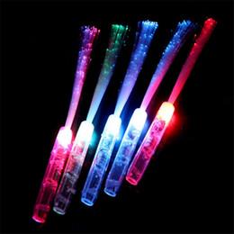 Canada Led jouets 35cm led bâton lumineux jouet coloré clignotant bâtons clignotent lueur par fibre optique concert accessoires lumière baguettes magiques bâton jouets H742 Offre