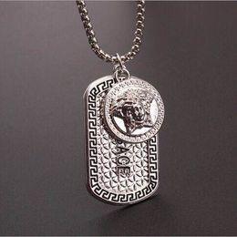 Wholesale metal plates for jewelry - Hot sale Punk medusa Gold hip hop neckalce Metal Alloy Silver Necklace & Pendants Hip Hop Jewelry for Men and Women