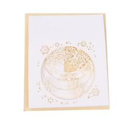 Wholesale handmade snowflake - Handmade 3D Pop Up Tree Box Snowflake Greeting Holiday Card Merry Christmas Gift