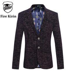 Discount velvet wear - Blazer Men 2017 Men's Fashion Brand Mens Velvet Blazers 5XL 6XL Men Designer Suit Slim Fit Formal Jacket Prom Stage Wear Q228