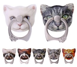 Wholesale huawei cat - Cute Kitten Shape 360 Roating cat Finger Ring Mobile Phone Stand Holder for iPhone Samsung Huawei Xiaomi All Smart Phones with Retail Box