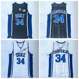 Canada Hommes Vintage Duke Blue Devils 34 Maillot de Basketball Wendell Carter Junior College cheap cheap junior shirts Offre