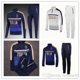 Wholesale Tights Men Suit - top quality 2017 18 Survetement football tracksuit 17 18 training suit kits Soccer jacket training shinny tight pants de foot.
