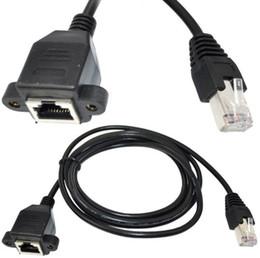 Câble de montage sur panneau hdmi en Ligne-30cm 60cm 100cm Support de panneau à vis RJ45 Cat5 mâle à femelle Ethernet LAN Extension de réseau Câble avec vis LLFA