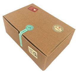 2019 envoltura de dulces de boda gratis Cajas de papel de Kraft del rectángulo 30pcs / lot, cajas de empaquetado de la panadería reciclable, caja de regalo, caja del partido, caja de torta de papel de Kraft. 18.2x12x5cm