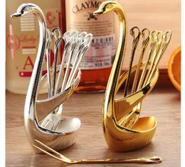 Wholesale Nice Storage - Exquisite Swan spoon fork receptacle Creative kitchen cutlery storage With nice spoon or fork