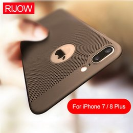 Wholesale Cool Iphone Phone Cases - For iPhone X 8 7 6 6s Plus Phone Case Cooling Back Heat Dissipation Cell Phone Cases for Galaxy S9 S8 Plus