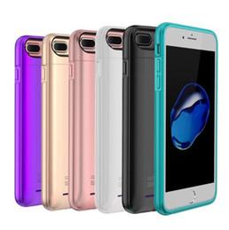 Листовое здание онлайн-Для iPhone 6 6 S 7 8 plus внешняя батарея зарядное устройство чехол сотовый телефон Power Bank Powerbank зарядки чехлы чехол встроенный металлический лист