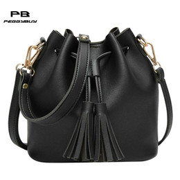 a968bba8dd7a Simple Women PU Leather Shoulder Messenger Handbags Girls Drawstring Solid  Luxury Crossbody Bag Teen Travel Mini Tote Pouch Pack